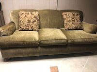 Green fabric 3-seat sofa 185 mi