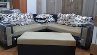 beige and black coffee table