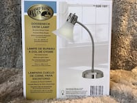 White and gray hampton bay lamp. Never used. New in box Derwood, 20855