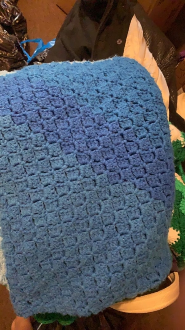 Used Blue Crochet Blankets For Sale In St Louis Letgo