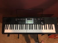 Casio Keyboard and stand. Barely used   Houston, 77034