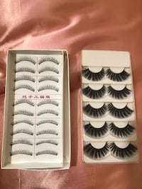 white and black false eyelashes Elk Grove, 95624