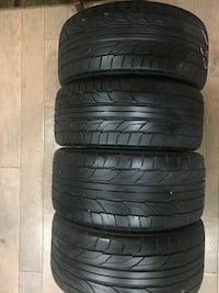 Nitto NT555 G2 staggered set of size 19 tires Nitto NT555 G2 staggered set of size 19 tires