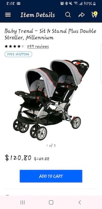 Sit and stand double stroller Norfolk, 23518