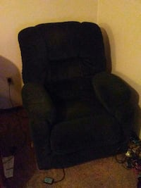 black fabric recliner sofa chair Grinnell, 50112