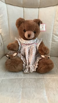 Adorable! White and red floral dressed Teddy Bear Gainesville, 20155