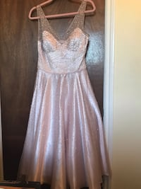 Light pink party ocasión dress size 8 Toronto, M6H