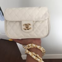 white and brown leather crossbody bag Surrey
