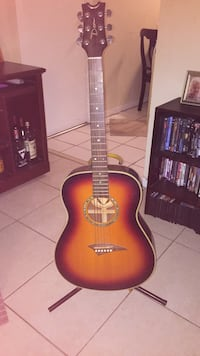 Red and black classical guitar WESTPALMBEACH