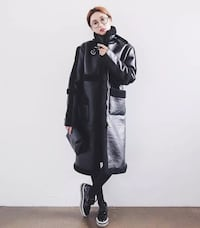 Vegan lamb leather long coat S Richmond, V6X 2A2