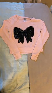 Pink Sweater with Sequin Bow Bristow, 20136