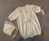 Infant White Christening/Baptism Outfit with Bonnet Size 0-3 months Toronto, M9C 4V9