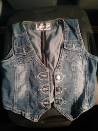 blue denim vest Las Vegas, 89119
