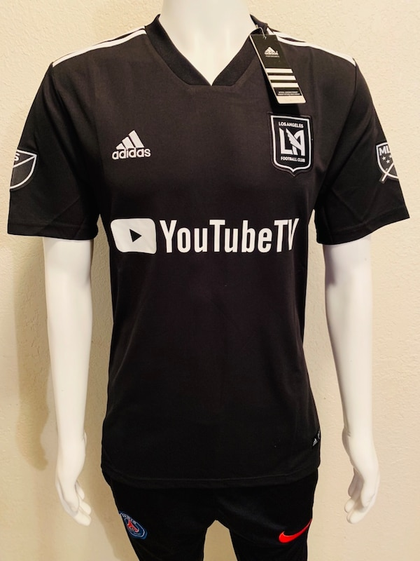 detailed look 33881 9143f Black and white adidas LAFC Jersey