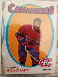 Montreal Canadiens Pierre Bouchard trading card Lindsay, K9V 1C3