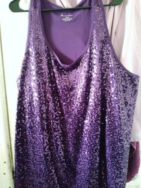 e805aaadacb Used purple and black sequin tank top for sale in Mesa - letgo