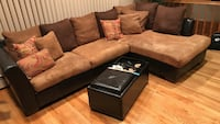 brown and black sectional couch Hempstead, 11572