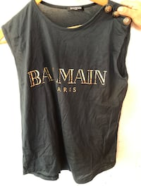Camiseta negra de Balmain Paris Madrid, 28041
