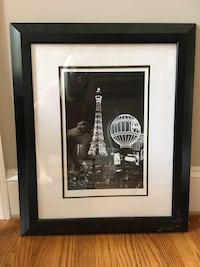black wooden framed grayscale photo of Eiffel Tower Charlotte, 28277