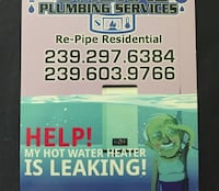 Plumbing services  North Fort Myers, 33903