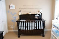 Solid Wood 3 stage convertible crib Sherwood Park