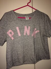 Gray and pink scoop neck shirt McMinnville, 97128