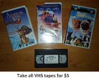 VHS - Kids Tapes (Take all for $5) Mississauga