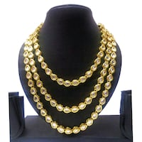 gold-colored beaded kundan necklace Jaipur, 302016