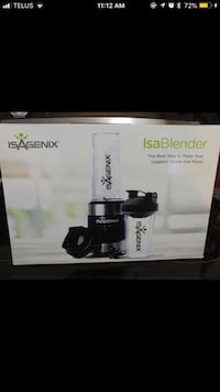 black Isagenix blender box screenshot Calgary, T2K 5H7