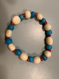 ive-ery and old glass bead bracelets stretchy