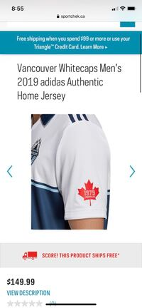 White caps jersey
