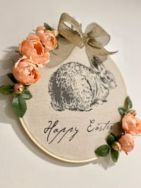 Easter decoration, wall decoration, Easter wreath, spring wreath