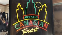 Lights up Neon Sign. Molson Canadian