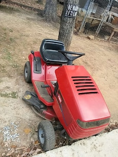 toro red riding mower