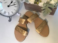 Pair of gold sandals