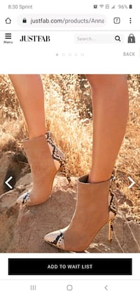 Animal Print Tan Suede Boots Booties