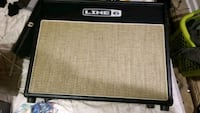 black and gray Crate guitar amplifier 55 mi