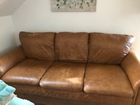 Brown Italian leather couch and chair Petaluma, 94952