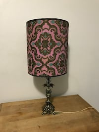 black and red floral table lamp Montreal