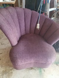 Unique purple shell chair Cedar Park