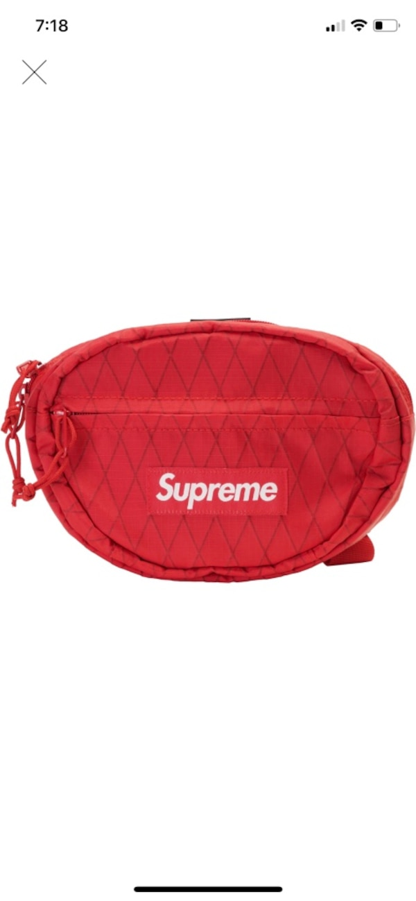 43720f3c18d0 Used Supreme Waist bag fw18 red for sale in New York - letgo