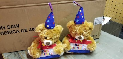 MUSICAL BIRTHDAY BEARS WITH GIFTCARD HOLDERS $5 EACH