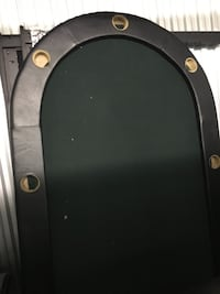oval green and black poker table 31 km