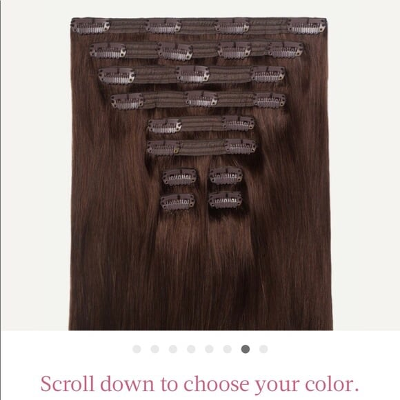 Luxy clip-in Hair extensions in chocolate Brown,10 piece wefts