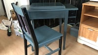 Unique wooden sewing table with chair Surrey, V3S 5N4