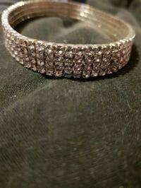 silver and diamond studded bracelet  Greater London, TW4 7PL