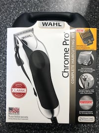 The Wahl Chrome Pro Clippers Haircutting Kit 24 pc Fade Bread Shaver