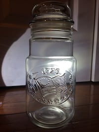 Vintage 1776 Bicentennial Anchor Hocking Glass Jar Container - Excellent Condition! Chantilly, 20151
