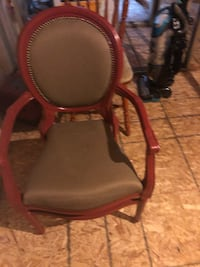 black and red leather padded chair Barrie