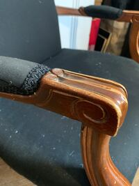 Antique Victorian upholstered arm chair